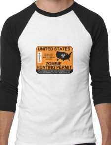 Zombie Hunting Permit 2012/2013 Men's Baseball ¾ T-Shirt