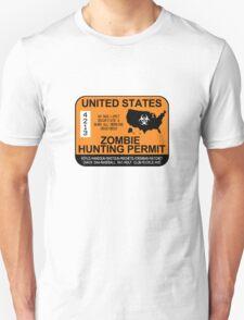 Zombie Hunting Permit 2012/2013 Unisex T-Shirt