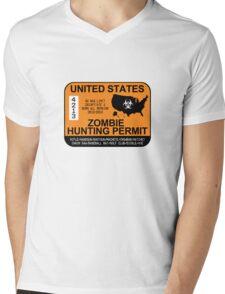 Zombie Hunting Permit 2012/2013 Mens V-Neck T-Shirt