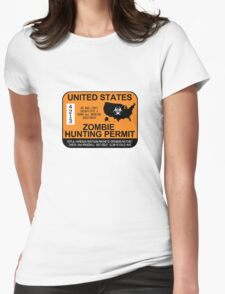 Zombie Hunting Permit 2012/2013 Womens Fitted T-Shirt
