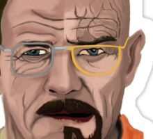 The Two Faces of Walter White Sticker
