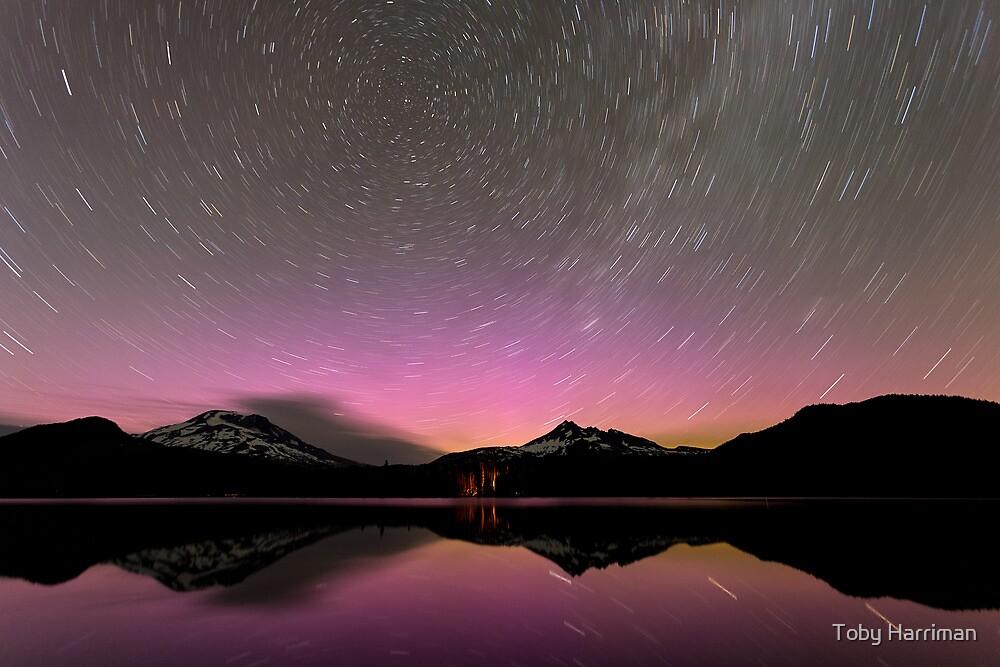 Aurora Trails - Sparks Lake, Oregon by Toby Harriman