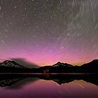 Aurora Trails - Sparks Lake, Oregon by Toby Harriman