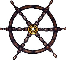 Nautical - Ship's Wheel by vitez-art