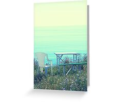 A Garden with a View Greeting Card