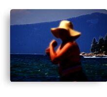 Floppy Hat Lady Canvas Print