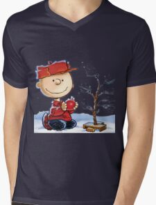 snoopy christmas Mens V-Neck T-Shirt