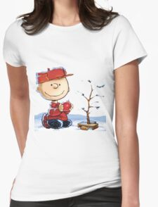 snoopy christmas Womens Fitted T-Shirt