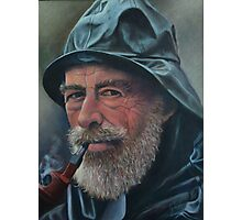 Old Sailor Oil Painting Photographic Print