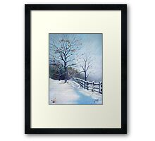 Winter Oil Painting Framed Print