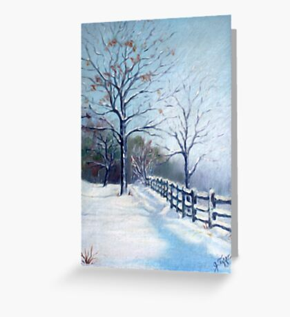 Winter Oil Painting Greeting Card