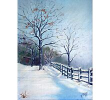 Winter Oil Painting Photographic Print