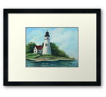 Lighthouse Oil Painting Framed Print
