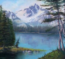 Lake Oil Painting by JamieTifft