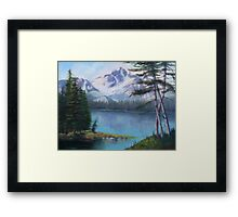 Lake Oil Painting Framed Print