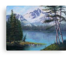 Lake Oil Painting Canvas Print