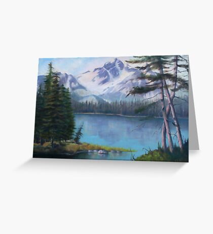 Lake Oil Painting Greeting Card