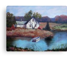 Lake House Painting Canvas Print