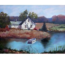 Lake House Painting Photographic Print