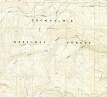 USGS Topo Map Washington State WA Raven Roost 243380 1989 24000 Sticker