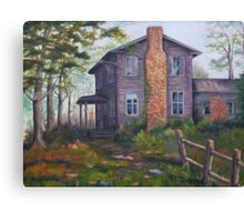 Old House Painting Canvas Print