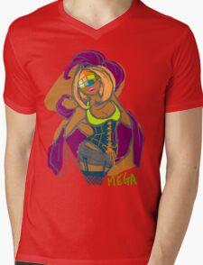 MEGA Mens V-Neck T-Shirt