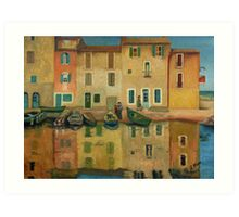 On the Water Oil Painting Art Print