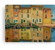 On the Water Oil Painting Canvas Print
