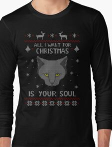 all I want for Christmas is your SOUL - ugly christmas sweater  T-Shirt