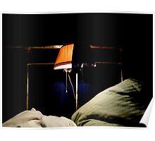 Vintage Bed Frame, Vintage Reading Lamp...not Vintage Stockings.. Poster