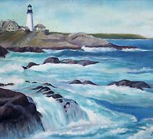 Lighthouse Oil Painting by JamieTifft