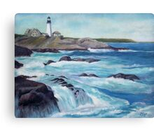 Lighthouse Oil Painting Canvas Print