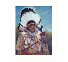 Native American Chief Painting Art Print