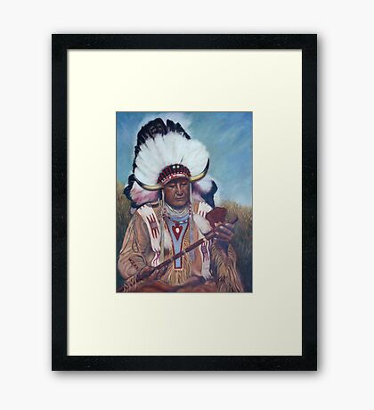 Native American Chief Painting Framed Print