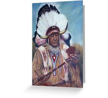 Native American Chief Painting Greeting Card