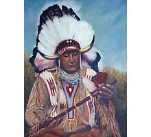 Native American Chief Painting Photographic Print