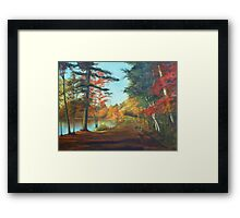 Forest Road Painting Framed Print