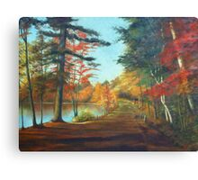 Forest Road Painting Canvas Print