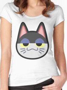 PUNCHY ANIMAL CROSSING Women's Fitted Scoop T-Shirt