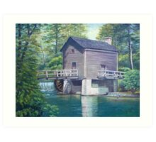 Old Mill Painting Art Print