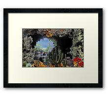 2315-Cactus Water Cave Framed Print
