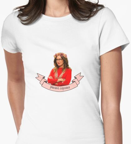 Captain Sharon Raydor, Precious Cupcake Womens Fitted T-Shirt