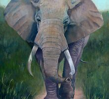 Elephant Painting by JamieTifft