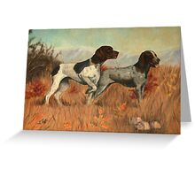 Hunting Dogs Painting Greeting Card