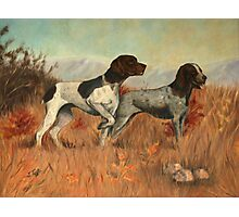 Hunting Dogs Painting Photographic Print