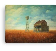 Windmill Farm Painting Canvas Print