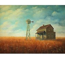 Windmill Farm Painting Photographic Print