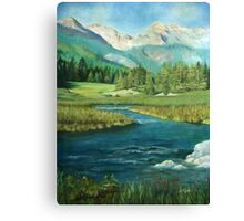 Mountains Lake Landscape Canvas Print