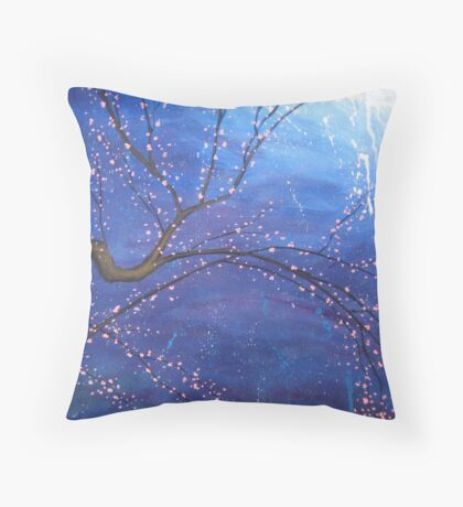 Cherry Tree Painting Throw Pillow