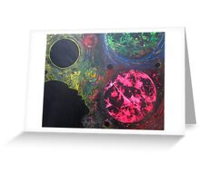 Spray Paint Space Art Greeting Card